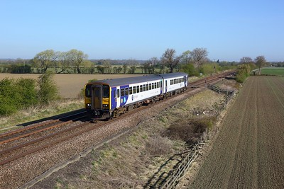 155342 working 2R07 0845 York to Hull at Little Fenton on 22 April 2021  Northern, Class155, DearneValleyLine