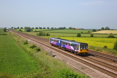 142024 working 2Y70 0856 Sheffield to York at Colton Junction on 29 June 2019    Class142, Northern, DearneValleyline