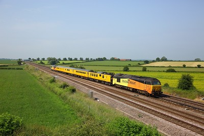 67027 leading 67023 working 1Q28 0930 Derby RTC to Heaton at Colton junction on 29 June 2020  Class67, ColasRail, Testtrain, DearneValleyline