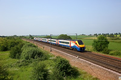222023 working 1F05 0633 St Pancras to Scarborough at Colton junction on 29 June 2020  Class222, EMR, ECMLYork