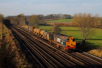20312 tnt 20308 on the 3S13 0850 Wrenthorpe to Grimsby Town at Melton Ross on the 24th November 2014