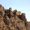 boulders above the dam - hoover dam on the arizona side