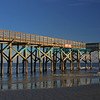 Pier made of lines and angles