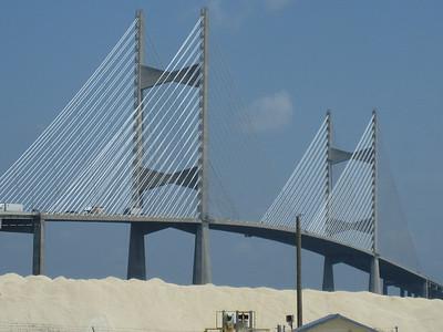 Harp-shaped suspending cables, Jacksonville, Florida.