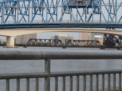 Stacked bridges and lines, Jacksonville Florida.