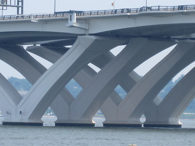 Woodrow Wilson Bridge, Washington, D.C.  Repeated triangles.