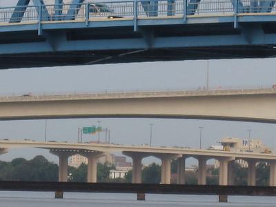 Four layers of bridges, Jacksonville, Florida.