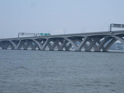 Soaring across the Potomac.  Wilson Bridge, Washington, D.C.