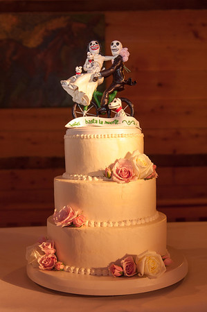 Lingrow Farm Wedding Day of the Dead Wedding Cake