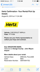 Nice feature Hertz,, also enjoy that I got upgrade from compact