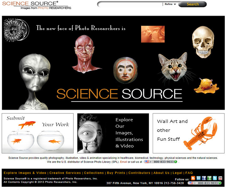www.sciencesource.com‎<br /> <br /> Rights managed and royalty free library of science, medical, nature and lifestyle photos, illustrations and videos.