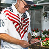 Organizer of the Parade, as always, is Ken and Nancy Bliss. Here Fred is checking his TO DO LIST one more time.