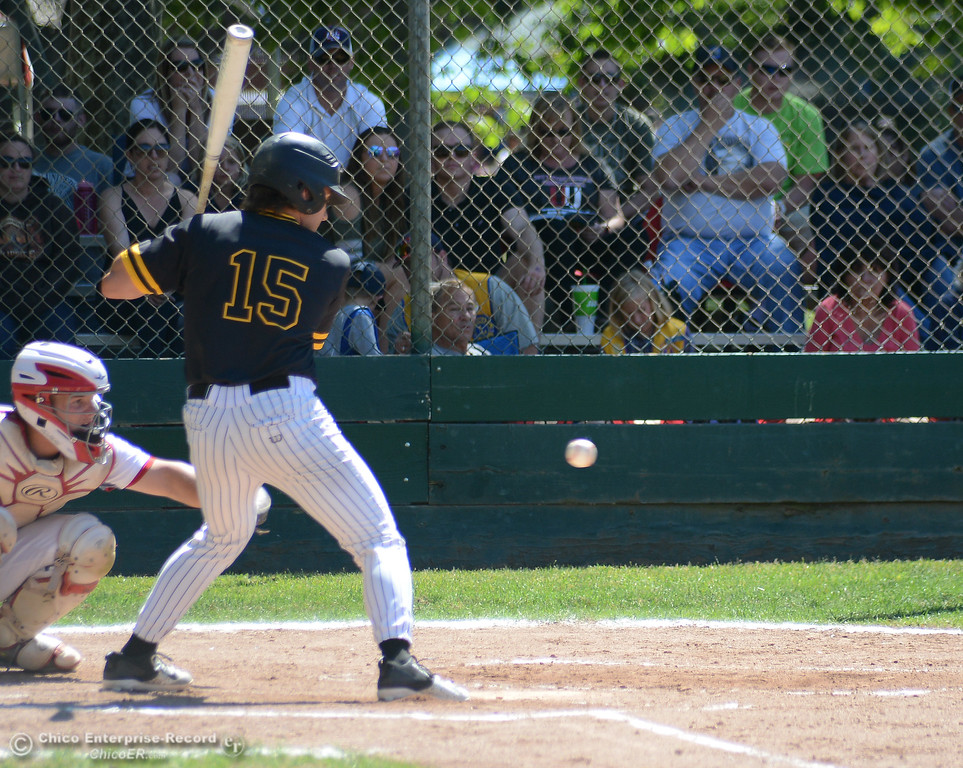 . Enterprise\'s Jacob Gilbreath takes a ball as he draws a walk in the Lions All-Star baseball game Saturday, June 10, 2017, at Doryland Field in Chico, California. (Dan Reidel -- Enterprise-Record)