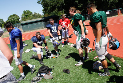 The Lions All-Star South team practices for their upcoming football game against the North Tuesday June 13, 2017 at Chico High School in Chico, California. (Emily Bertolino -- Enterprise-Record)