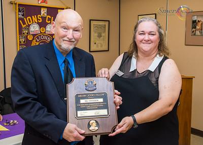 Lion Bill Davidson receiving his Melvin Jones Fellow