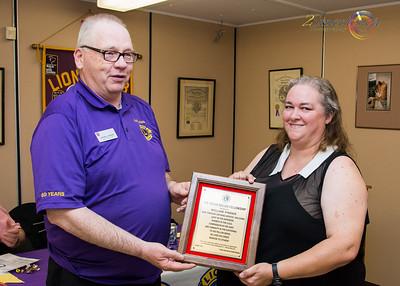 """Lion Bill Pinder receiving """"The Helen Keller Fellowship"""""""