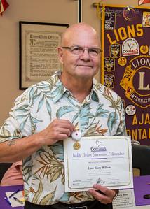 """Lion Gary Wilson  with his """"Judge Brian Stevenson Fellowship"""""""