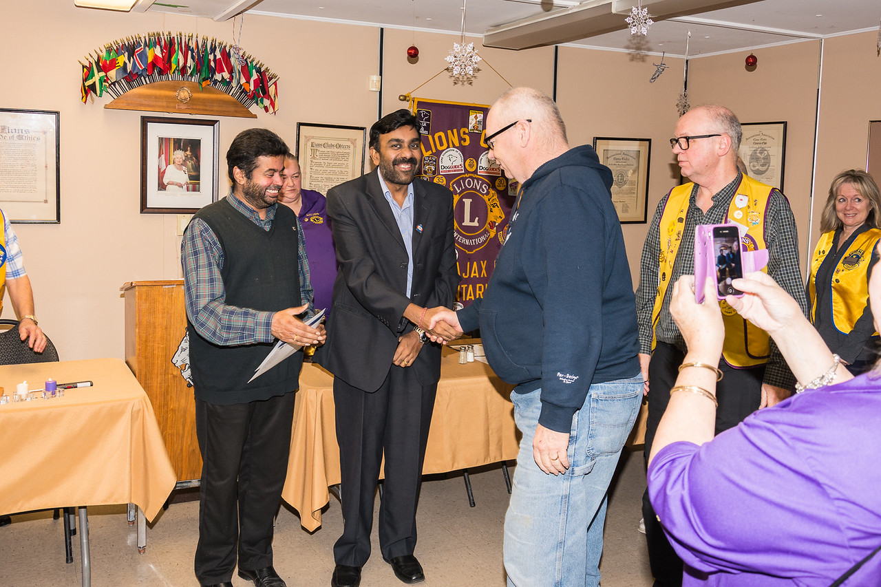 Welcome new members to the Ajax Lions Club