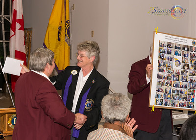 A-16 District Governor Elect Lion Susan Tate and A-16 District Governor Lion Eleanor Colwell