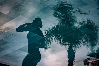 Pool Palm Girl
