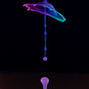 Neon water drop collision