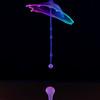 Neon water drop collision