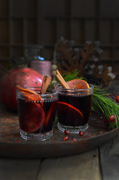 Pomegranate Mulled Wine