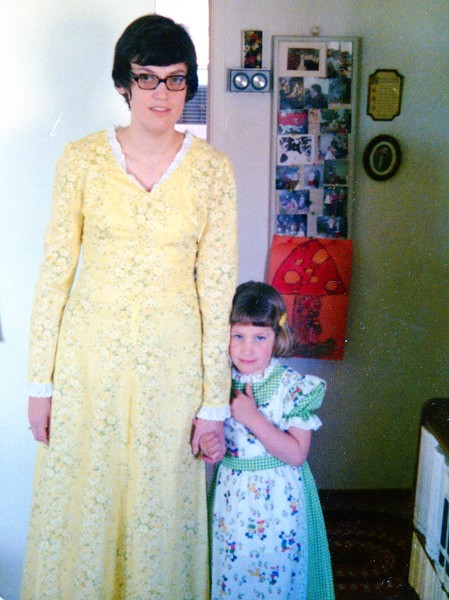 Colleen and Lisa, Easter 1975