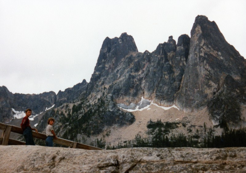 Jeff and Lisa at Liberty Bell on North Cascades Highway