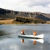 Canoeing on Alkali Lake
