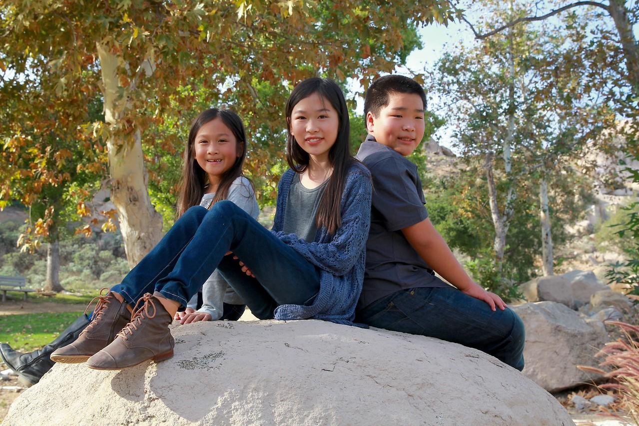 kids on rock