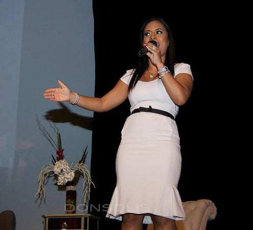 Lisa Nicole speaking at the WEN Experience Launch NYC Photo Credit: Oscar Garifuna Barack Solis