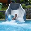 Jacob coming down a slide