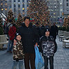 The Boys and Aunt Phyl in front of the tree at Rockefeller Center Christmas Tree