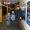 The Boys and Aunt Phyl waiting for the subway.