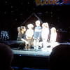 Jake's Broadway debut.  He was called on stage during our watching of A Gazillion Bubbles  - cell phone pic