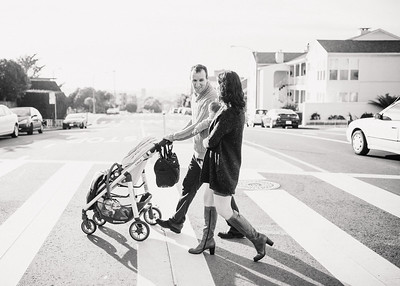 Lisa and Jason Family Black and White