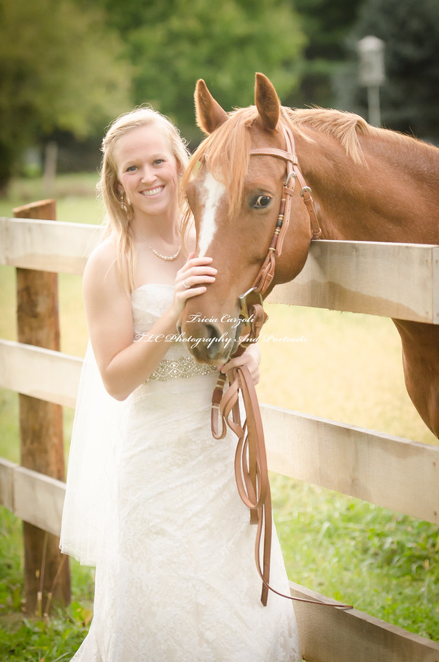 Lisa and Logan ~ with horses