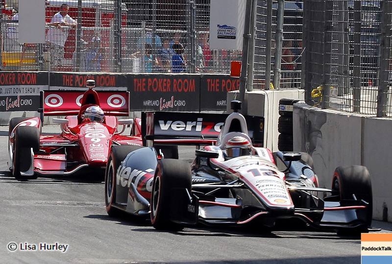 September 1: Will Power and Scott Dixon during the IndyCar Grand Prix of Baltimore.