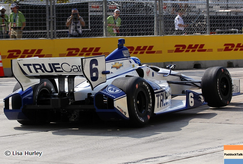August 30: Sebastian Saavedra during IndyCar practice for the Grand Prix of Baltimore.