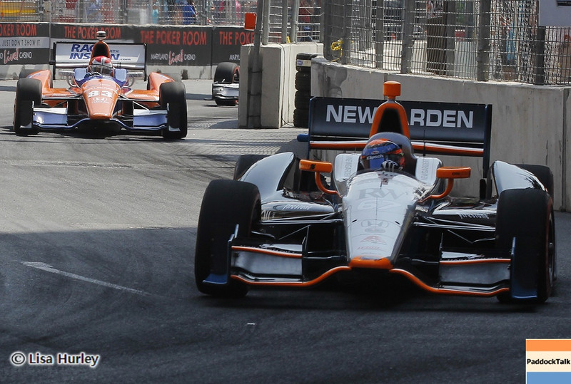 September 1: Josef Newgarden and Charlie Kimball during the IndyCar Grand Prix of Baltimore.