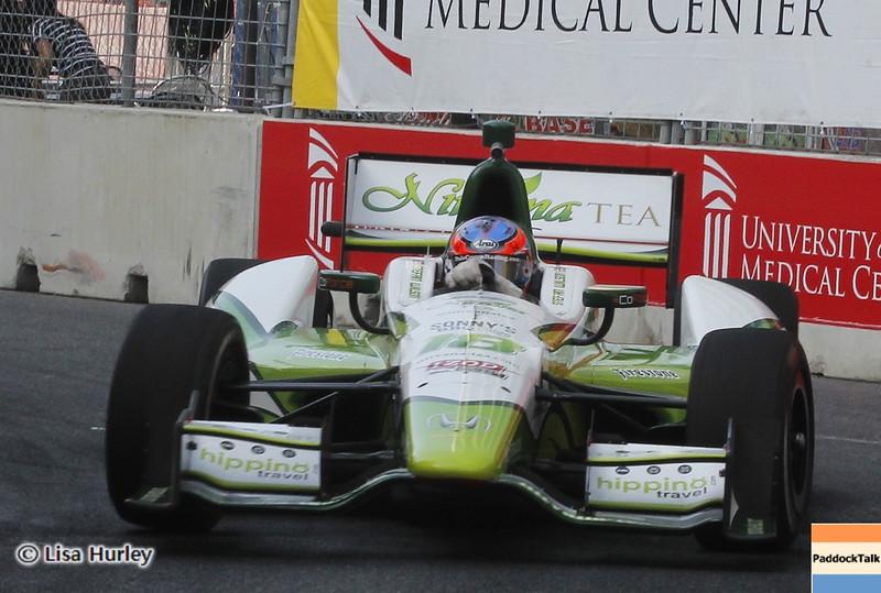 September 1: Stefan Wilson during the IndyCar Grand Prix of Baltimore.