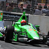 August 31: James Hinchcliffe during IndyCar qualifying for the Grand Prix of Baltimore.