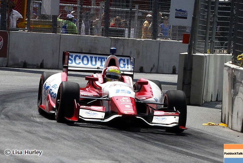 August 31: Justin Wilson during IndyCar qualifying for the Grand Prix of Baltimore.