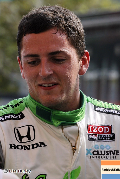 September 1: Stefan Wilson during the IndyCar Grand Prix of Baltimore.