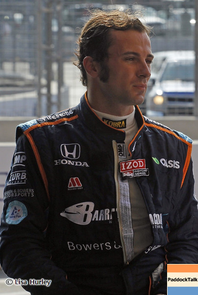 September 1: Luca Filippi during the IndyCar Grand Prix of Baltimore.