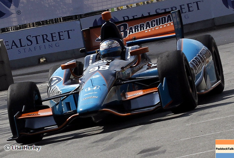 September 1: Luca Filippi during the IndyCar Grand Prix of Baltimore.