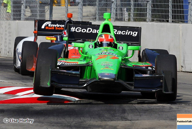 September 1: James Hinchcliffe and Tristan Vautier during the IndyCar Grand Prix of Baltimore.