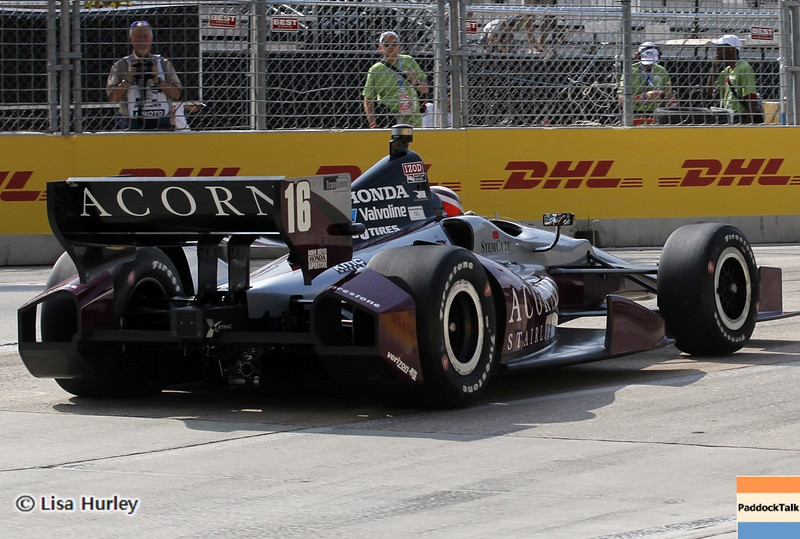 August 30: James Jakes during IndyCar practice for the Grand Prix of Baltimore.