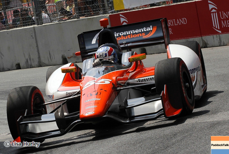 August 31: Tristan Vautier during IndyCar qualifying for the Grand Prix of Baltimore.